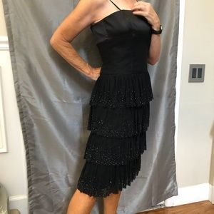 NWT Laundry Strapless Black Dress - Sz 6